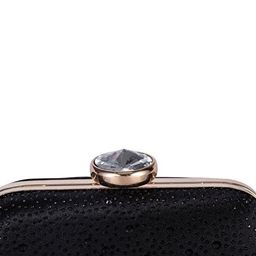 Bridal Evening Chichitop Women's Handbag Black Elegant Purse Crystal Wedding Clutch Party UUP68qt