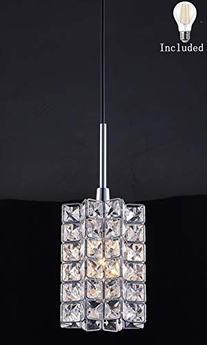 Chrome And Crystal Pendant Lighting