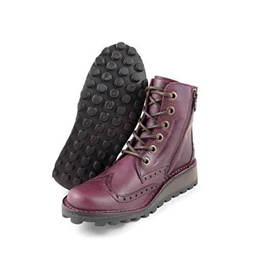 Boot Leather Lace Purple London up Women's Rug Fly Purple Marl xqwH0RI46v