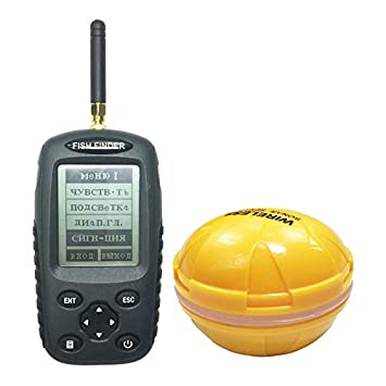 Sensor de Sonar para el buscador de Peces con conexión de Cable, Detector de Peces portátil con conexión por ultrasonido ...