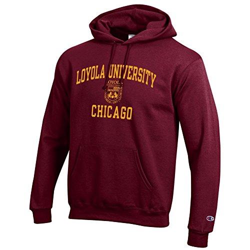 Elite Fan Shop Loyola University Chicago Ramblers Hooded Sweatshirt Varsity Maroon - XXL
