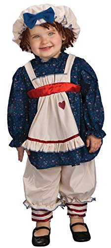 [Rubies Ragamuffin Dolly Costume Toddler 2-4 Multicolored] (Ragamuffin Costume)