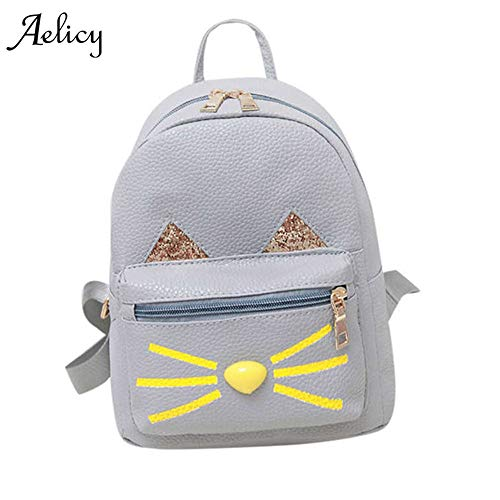 Amazon.com: Lovely Cat Leather Backpacks Women Shoulder Bags School Bag for Teenage Girls Travel Mini Bagpack Mochila Feminina: Kitchen & Dining