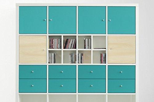 New Swedish Design IKEA Kallax Expedit Regal CD Einsatz Regalkreuz Fach Fachteiler f/ür 60 CDs R/ückwand gegen Durchrutschen CD-Regal CD-Storage Aufbewahrung Regaleinsatz 33,5 x 33,5 x 16 cm wei/ß