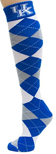 NCAA Kentucky Wildcats Argyle Dress Socks, One Size, Blue (Ncaa Wildcats Football Kentucky Acrylic)