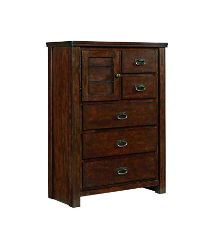 Ashley Furniture Signature Design - Ladiville Chest of Drawers - 5 Drawers - Casual - Rustic Brown by Signature Design by Ashley