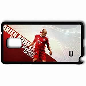 Personalized Samsung Note 4 Cell phone Case/Cover Skin Arjen Robben Bayern Munich Football Black