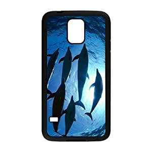Adorable Dolphin Hight Quality Plastic Case for Samsung Galaxy S5