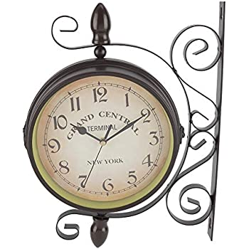 Amazon Com Aunmas Vintage Retro Wall Clock Iron Art