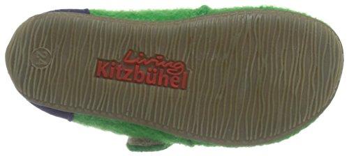 Living Kitzbühel Babyklett Velourkappe - pantuflas de aprendizaje de lana Bebé-Niñas verde - Grün (441 emerald)