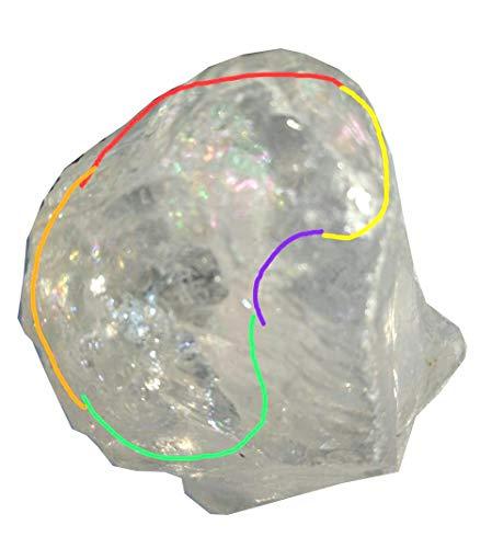 Crystal Cave Satyaloka Azeztulite Quartz Crystal 141 Gram Record Keeper  Synergy 12 Stones Altar Stone Rainbow Quartz RARE