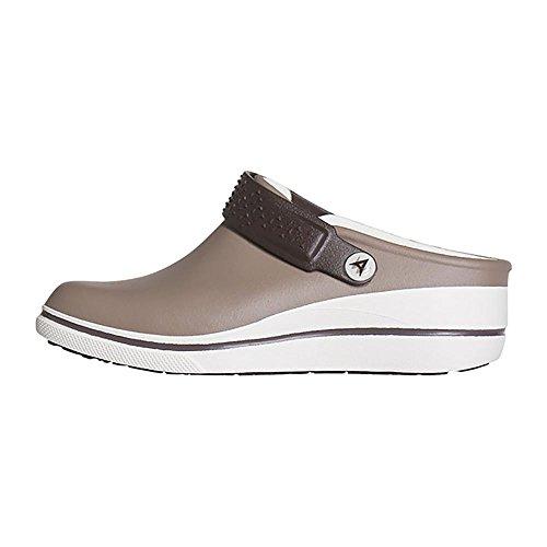 Anywear Women's Peak Health Care Professional Shoe Taupe, Marshamallow 8 Medium US