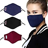 3PCS Mouth Mask PM2.5 Anti-Fog Anti-dust Mask Mouth Cover Mask with...