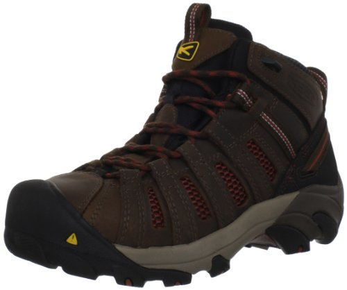 KEEN Utility Men's Steel Toe Flint Mid Work Boot,  Slate Black/Burnt Henna, 13 D(M) US Athletic Steel Toe Hiking Boots