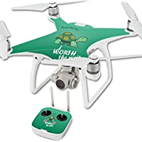 MightySkins Skin For DJI Phantom 4 Quadcopter Drone – Late Turtle Protective, Durable, and Unique Vinyl Decal wrap cover | Easy To Apply, Remove, and Change Styles | Made in the USA