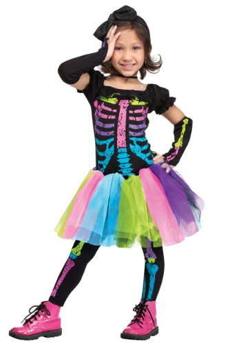Girl Punk Costumes (Funky Punk Skeleton Toddler Costume)