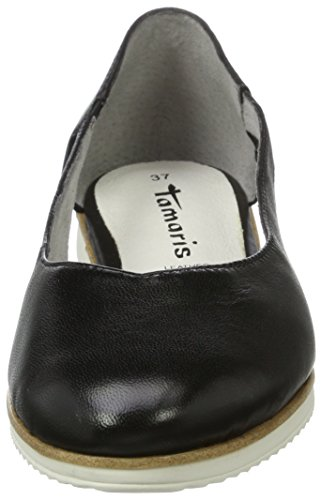 28 Ballerinas 1 BLACK 1 Leather Tamaris Women black Black 003 24202 LEATHER nRwBq8Xxp