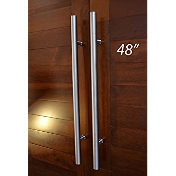 Contemporary Modern 36 inches Stainless-steel Door Handle Push ...