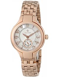 """Women's 44RGP-FMOP-SS5RGP """"Round Collection"""" Rose Gold-Plated Watch"""