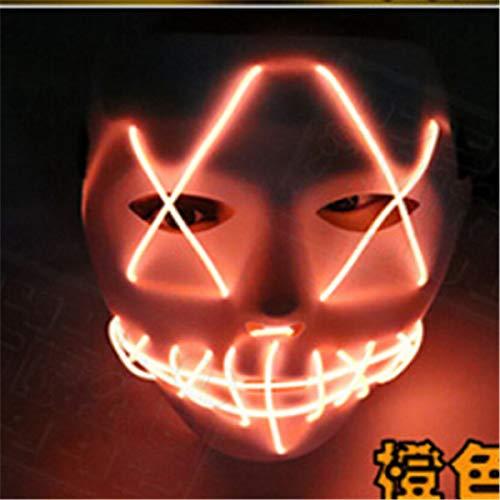 Bloody Mask - Halloween El Luminous Mask Horror Grimace Bloody Wire Carnaval Party Club Bar Dj Glowing Full Face - Kids Superhero Gold Women Wear Stick Male Bulk Masquerade Adults Masks Pack H ()