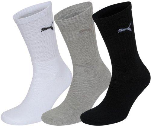 À Puma black 325 Logo grey White Chaussettes De 3 Homme Sport Lot rqXqfAp