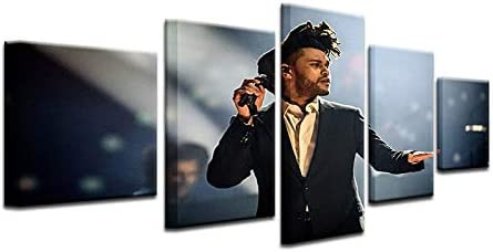 The Weeknd Singer Music Painting Canvas Print Art Home Decor Wall
