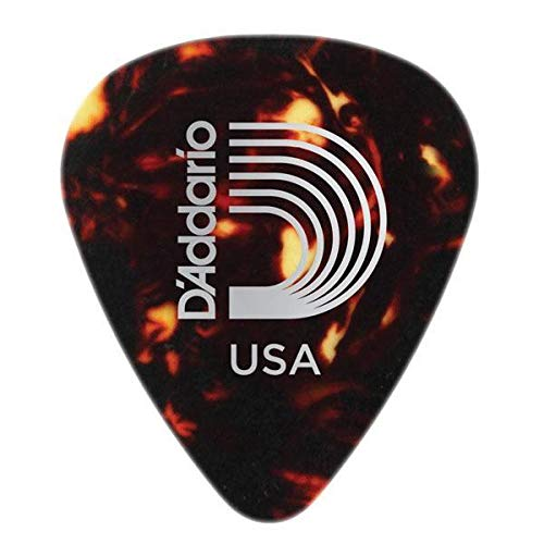 - D'Addario Planet Waves Classic Celluloid Shell Guitar Pick | 10 Pack