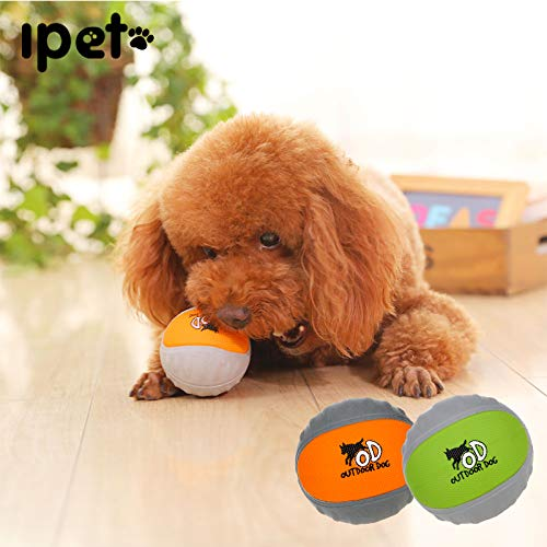 HOOPET Plus Size Pet Dog Toy Chew Interactive Fishing Brown Bouncy Balls for Small Large Dog Cat Bites Clean Tooth 2 colors