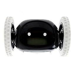 Umiin Runaway Alarm Clock on Wheels for Heavy Sleepers,Kids,Boys Room(Black)