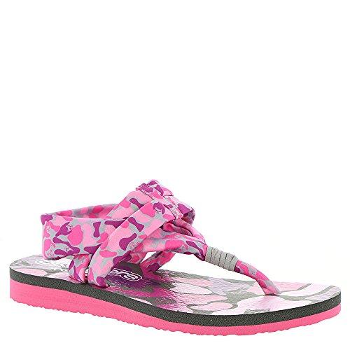 Skechers Print Sandals - Skechers Kids Womens Meditation 86917L (Little Kid/Big Kid) Gray/Pink 4 Big Kid M