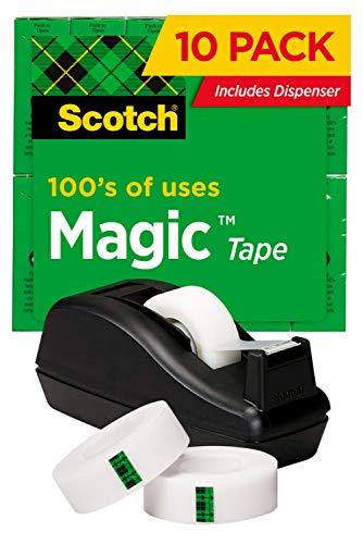 Scotch Magic Tape Deal, 3/4 x 1000 Inches, 6-Pack with C-40 Black Dispenser (810C40BK)