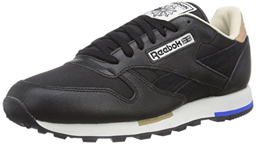 Blue Classic Uomo vital Nero Sneakers Da wht chalk paperwhite Leather black Reebok walnut Casual fTBxPBq