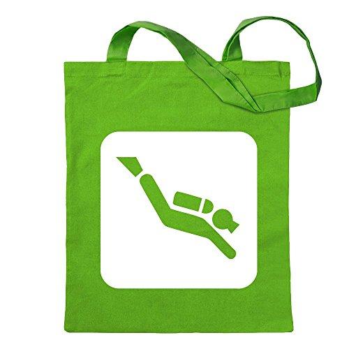 Diving spots Dive spots pictograms jute bag printed Design Print Gift Idea