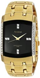 Armitron Men's 20/4541BKGP Swarovski Crystal Accented Gold-Tone Bracelet Watch