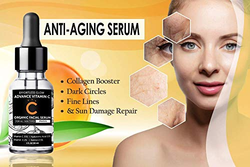41ojSLFpSlL - Vitamin C Serum for Face | With Hyaluronic Acid, Retinol, & Vitamin E | Natural Anti Aging & Wrinkle Facial Serum, Best Vitamin C Serum for your Skin (PH 5.5 for all skin types)
