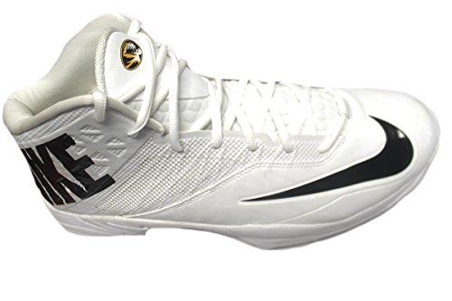 Nike Mens Special Promo Zoom Code Elite 3/4 Tacchette Calcio Squalo Bianco / Nero