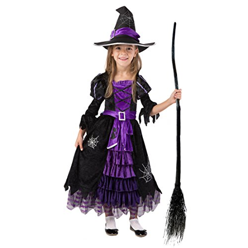 Spooktacular Creations Fairytale Witch Cute Witch Costume Deluxe Set for Girls (M 8-10) Blue