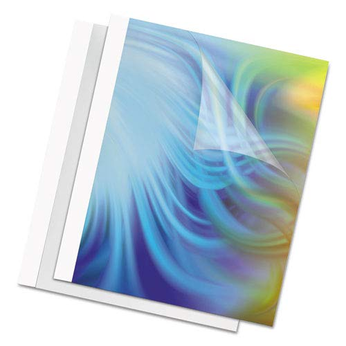 Clear//White Thermal Binding System Covers 10//Pack Sold as 10 Each 30 Sheets 11 x 8 1//2