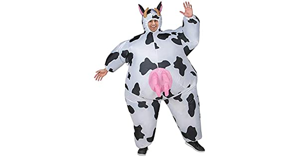 Amazon.com: Morris - Disfraz de vaca hinchable para adulto ...