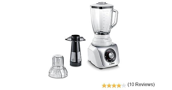 Bosch SilentMixx - Licuadora (1,5 L, Batidora de vaso, Plata, 0,9 m, CE, Vidrio): Amazon.es: Hogar