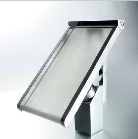 GOWE LED Light Waterfall Bathtub Chrome Basin Faucet Water Tap Sink Mixer Vanity Vessel Sinks Mixers Taps,Bathroom Faucets