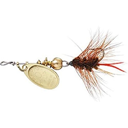 - Mepp's Aglia and Black Fury Spin Fly Wooly Worm Fishing Lure, 1/12-Ounce, Gold/Brown Tail
