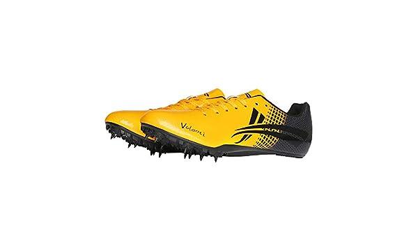 AIALTS Zapatillas con Clavos De Atletismo para Hombres, Zapatillas Deportivas para Correr Sprint De Salto Largo para Jóvenes, Zapatos De Deporte De Uñas De Campo Traviesa,Naranja,40.5EU: Amazon.es: Hogar