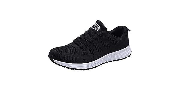 WWricotta LuckyGirls Zapatillas de Correr Malla Rejilla Hombre Casual Cómodas Calzado para Andar Deporte Zapatos de Viaje Planos Bambas de Running Deportivas con Cordones: Amazon.es: Deportes y aire libre