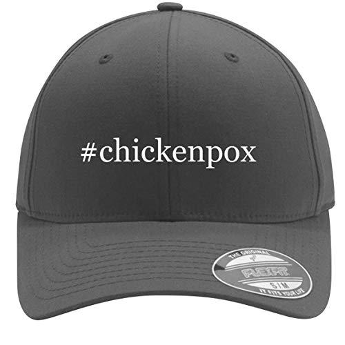 #Chickenpox - Adult Men's Hashtag Flexfit Baseball Hat Cap, Silver, Small/Medium
