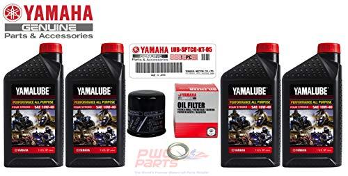 (YAMAHA Sport Motorcycle AP Oil Change Kit YZF-R6S R6 FZ1 FZ6 10W40 SAE LUB-SPTCG-KT-05)