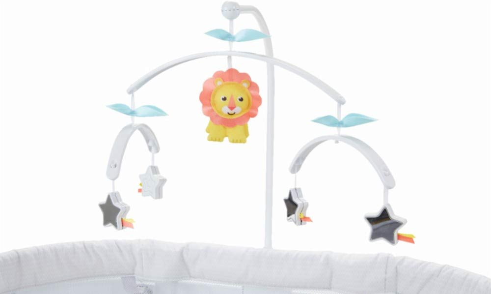 Fisher Price Soothing Motions Baby Bassinet - Replacement Mobile - Lion - Stars