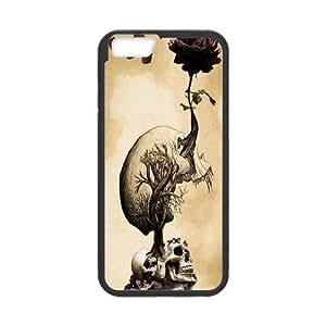 """DIY Skulls & Rose Case, DIY Hard Back Durable Case for iphone6 4.7"""" with Skulls & Rose (Pattern-8)"""