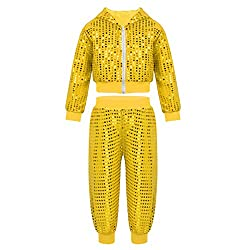 Boys Street Dance Sequins Clothing Set