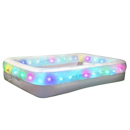 XC Cinturón De PVC Inflable LED para Niños Adultos Piscina: Amazon ...